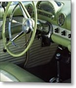 Green Thunderbird Wheel And Front Seat Metal Print