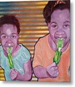 Green-tongued Cousins 2014 Metal Print