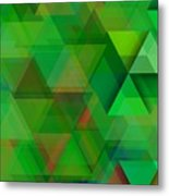 Green Triangles Over Green Mist Metal Print