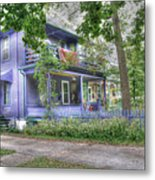 Green Trim Gaudy-otherwise Understated Metal Print by David Bearden