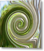 Green Twirl Metal Print