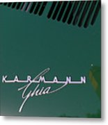 Green Volkswagon Karmann Ghia . 7d10091 Metal Print