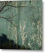 Green Wall Abstract Metal Print