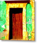 Green Wall By Darian Day Metal Print