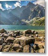 Green Water Mountain Lake Morskie Oko, Tatra Mountains, Poland Metal Print