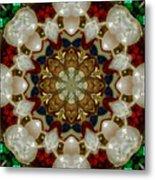 Green White Red Blue Kaleidoscope 1 Metal Print