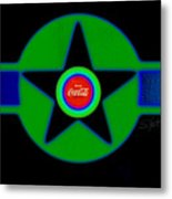 Green With Blue Metal Print
