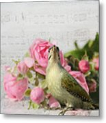 Green Woodpecker Stilllife Metal Print
