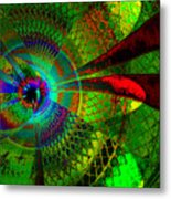 Green Worlds Metal Print