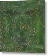Greenery In Green Metal Print