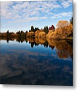 Greenlake Fall Reflections Metal Print