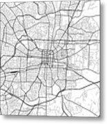 Greensboro North Carolina Usa Light Map Metal Print