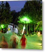 Greenville At Night Metal Print