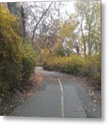 Greenway Trail In The Fall Metal Print
