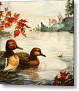 Greenwinged Teal Ducks Metal Print