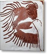 Greeting 6 - Tile Metal Print
