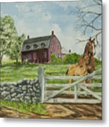 Greeting At The Gate Metal Print