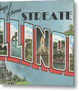 Greetings From Streater Illinois Metal Print
