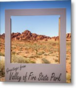 Greetings From Valley Of Fire Metal Print