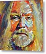 Greg  Allman Tribute Portrait Metal Print