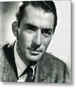 Gregory Peck Hollywood Actor Metal Print