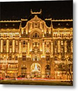 Gresham Palace Holiday Lights Painterly Metal Print