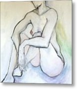 Gretchen - Female Nude Drawing Metal Print