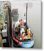 Gretel-k In The Fog - Lyme Regis Metal Print
