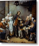 Greuze: The Village Bride Metal Print