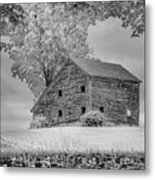 Grey Barn On A Grey Day Metal Print