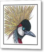 Grey Crowned Crane #52 Metal Print