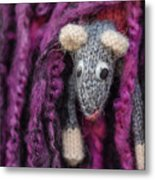 Grey Handmade Mouse Metal Print