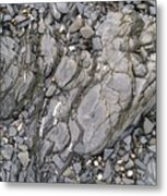 Grey Rocky Shore. Metal Print