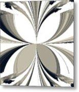 Grey Tone Rooster  Metal Print