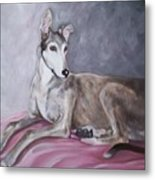 Greyhound At Rest Metal Print by George Pedro