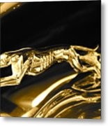 Greyhound hoood ornament Metal Print