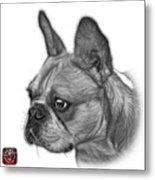 Greyscale French Bulldog Pop Art - 0755 Wb Metal Print