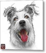 Greyscale Terrier Mix 2989 - Wb Metal Print