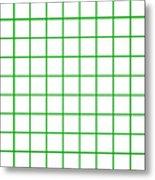 Grid Boxes In White 09-p0171 Metal Print