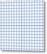 Grid Boxes In White 18-p0171 Metal Print