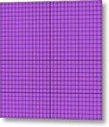 Grid In Black 30-p0171 Metal Print