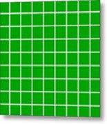 Grid In White 09-p0171 Metal Print