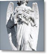 Grieving Angel On The Old Graveyard Metal Print