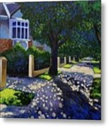 Griffith Avenue Through The Trees Metal Print