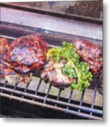 Grilled Meat Metal Print