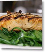Grilled Salmon Metal Print