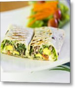 Grilled Vegetable And Salad Wrap Metal Print