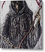 Grim Reaper Colored Metal Print