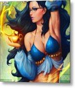 Grimm Fairy Tales - The Magic Lamp Metal Print