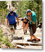 Grinding It Out On The Manitou Incline And Barr Trail Metal Print